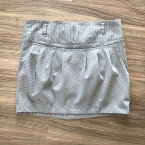 HeartSoul grey pinstripe juniors mini skirt size 7